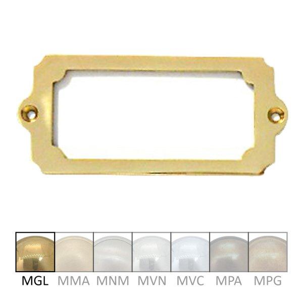 Namensschild für Gravur  Material: Messing  Maße:120 mm x 53 mm x 4 mm  Gravur auf Anfrage  Der Serie NS004  Bild1