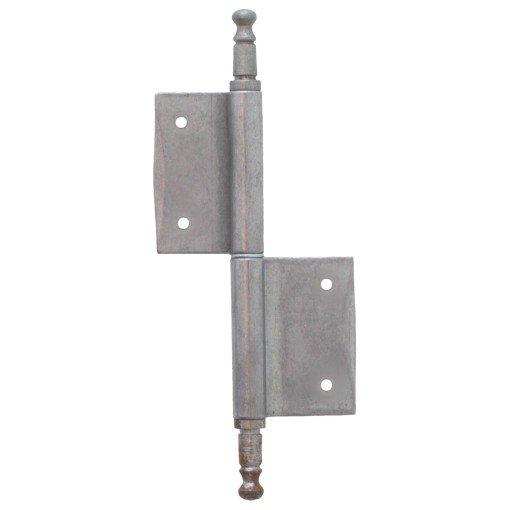 Möbelfitschenband Zierkopf 80mm recht - Eisen blank der Serie MB100 Bild1