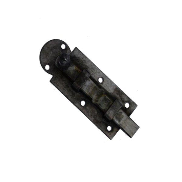 Schieberiegel, Türriegel 80mm - eisen blank der Serie SR001 Bild1
