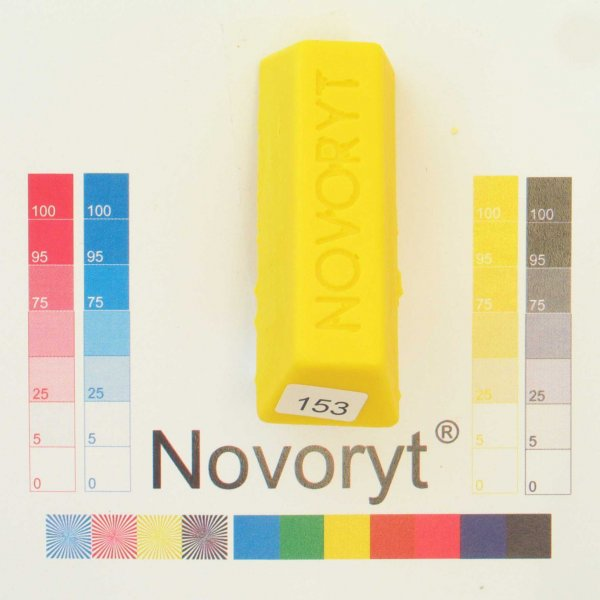 NOVORYT® Schmelzkitt - Farbe 153 gelb 5 Stangen der Serie HW003 Bild1