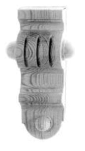 Kapitell AH025 Maße: 50 mm x 145 mm Kiefer Bild1