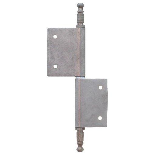 Möbelfitschenband Zierkopf 80mm links - Eisen blank der Serie MB100 Bild1