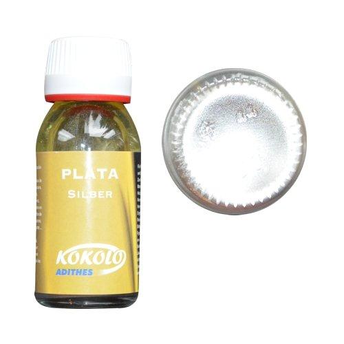 Flüssiggold 60ml Silber, für alle Oberflächen und Materialien geeignet, kein Oxidieren Bild1