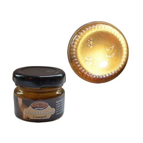 Gold-Creme 25 ml Gelbgold hell in Pastenform mit einer hohen Deckfähigkeit. Bild1