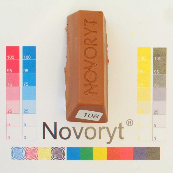 NOVORYT® Schmelzkitt - Farbe 108 Kupfer 5 Stangen der Serie HW003 Bild1