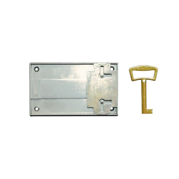Aufschraubschloss AS005 Eisen bronziert Dornmaß: D90 mm Bild1