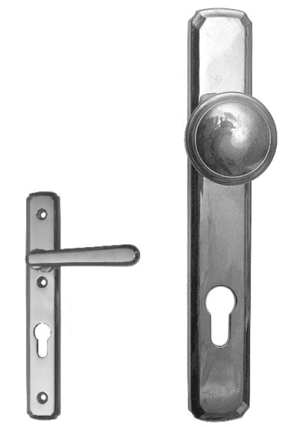 Türschild, Maße: 230 x 35 mm, Messing Bild1