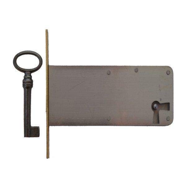 Einsteckschloss Messingstulp Dornmaß 80 mm Rechts der Serie ES006 Bild1