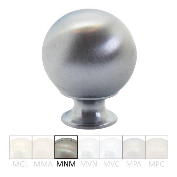 Möbelknopf in Messing vernickelt matt mit Schutzlack. D: 26 mm Bild1