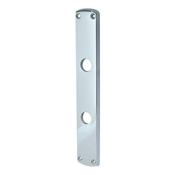 Badezimmertürschild Dist. 78 mm WC, Messing verchromt mit Schutzlack. Säbel. Bild1