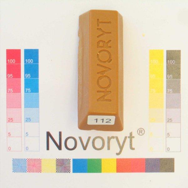 NOVORYT® Weichwachs Farbe 012 Eiche mittel 5 Stangen der Serie WW003 Bild1