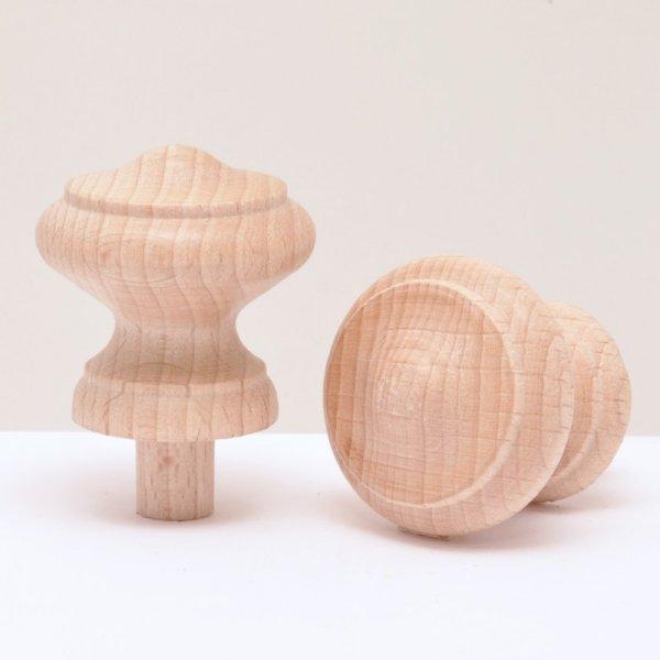Holzknöpfe in Buche in verschiedenen Duchrmessern der Serie KN400 Bild1