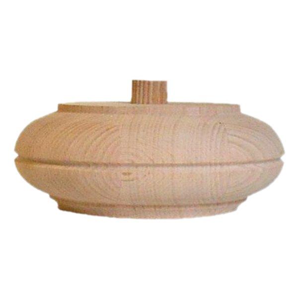 Möbelfuß in unterschiedlichen Holzarten und Maßender Serie HF027 Bild1