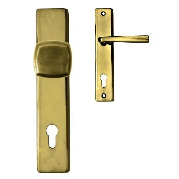 Sicherheitsgarnitur, Messing poliert, Dist. 72 mm, PZ, Art.Nr.: 11-8028HS Bild1