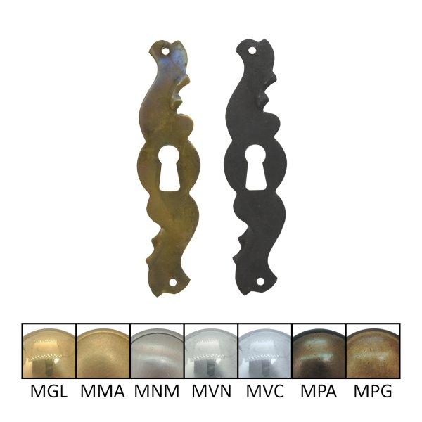 Schlüsselschild 110 x 30 mm Hochkant mit Schlüsselloch, Messing matt Bild1