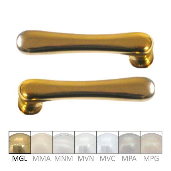 Türdrückerpaar aus Messing 110 mm, Tiefe 48 mm der Serie TD022 Bild1