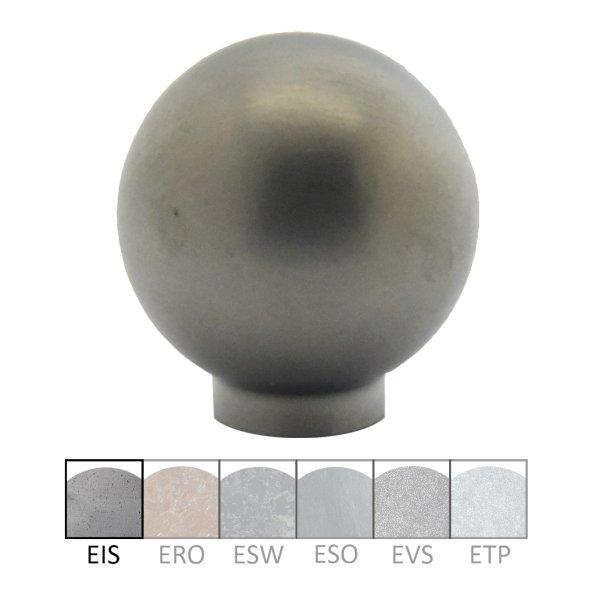Möbelknopf in Edelstahl matt. D: 25 mm Bild1
