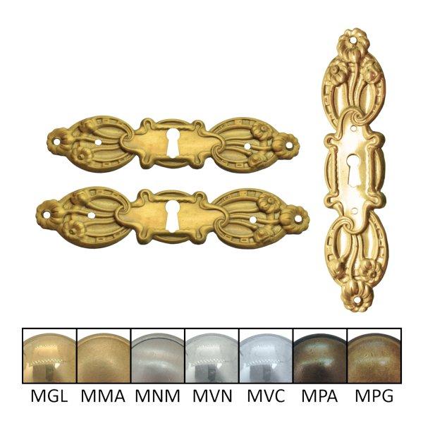 Möbelschild geprägt Messing MMA mit Schlüsselloch der Serie JU033 Bild1