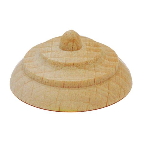 Knopfauflage in verschiedenen Holzarten und Durchmessern der Serie AH083 Bild1