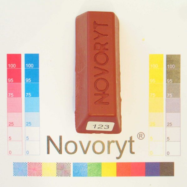 NOVORYT® Weichwachs Farbe 023 macoré 5 Stangen der Serie WW003 Bild1
