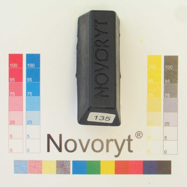 NOVORYT® Schmelzkitt - Farbe 135 schwarz 5 Stangen der Serie HW003 Bild1