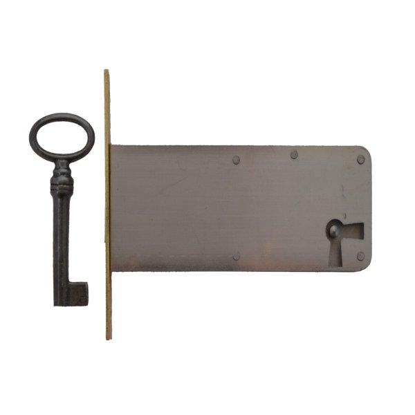 Einsteckschloss Messingstulp Dornmaß 45 mm rechts der Serie ES006 Bild1