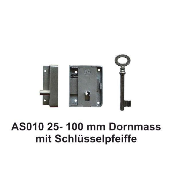 Aufschraubschloss aus Eisen, Dornmaß 25 - 100 mm der Serie AS010 Bild1