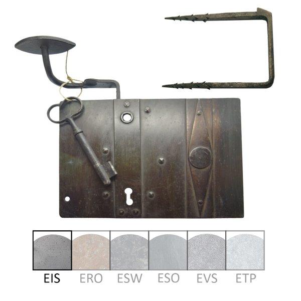 Zimmertürkastenschloss, links einwärts ( BB ). Dornmaß: 95 mm Bild1