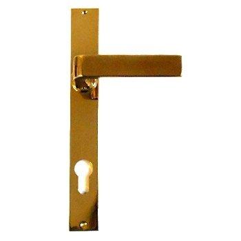 Türschild in Messing (PZ, BB, WC) mit versch. Oberflächen. 230x30 mm Bild1