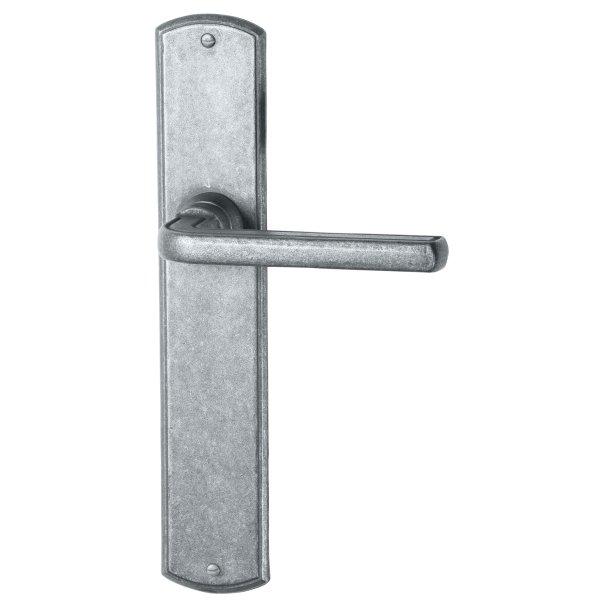 Zimmertürgarnitur TG054 Eisen Eisen thermopatiniert ® 238 mm x 41 mm inkl. Zubehör Bild1
