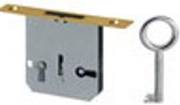 Einsteckschloss, Messingstulp, Dreizuhaltung der Serie ES111 Bild1