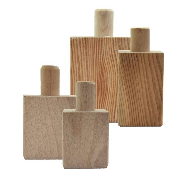 Möbelfuß in unterschiedlichen Holzarten und Maßender Serie HF050 Bild1