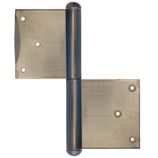 Einstemmband Blendrahmen fester Stift 160mm recht - Eisen blank der Serie TB006 Bild1