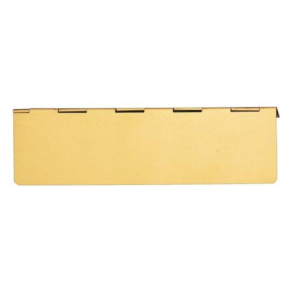 Briefklappe für Briefeinwurf Material: Messing für Wohnungseingangstüre innen Außenmaße: L 280 mm x H 80 mm x T 4 mm Der Serie BK013 Bild1