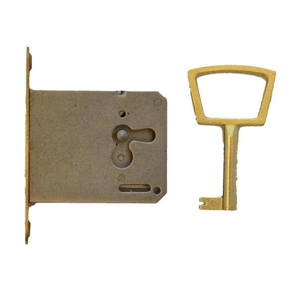 Einsteckschloss, runden Messingstulp, D30 rechts der Serie ES104 Bild1