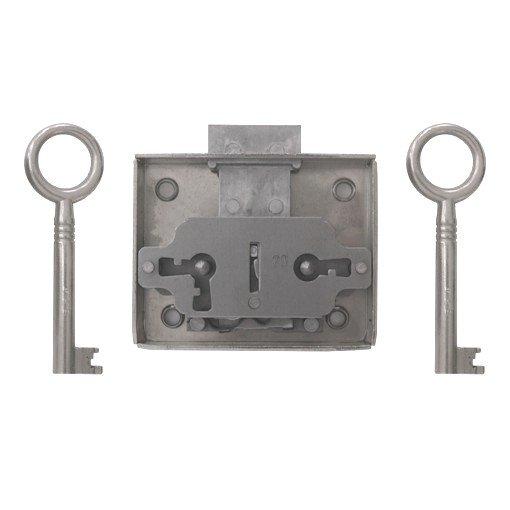 Aufschraubschloss AS002 Eisen roh Dornmaß: D30 mm Bild1
