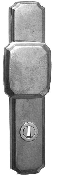 Türschild, Maße: 252 x 52 mm, Messing Bild1