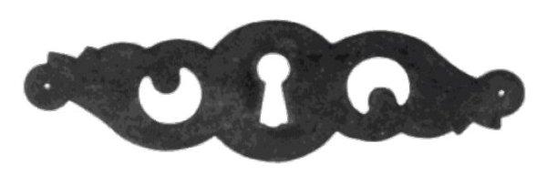 Schlüsselschild Quer mit Schlüsselloch, Eisen rostig, 130 x 40 mm der Serie BA013 Bild1