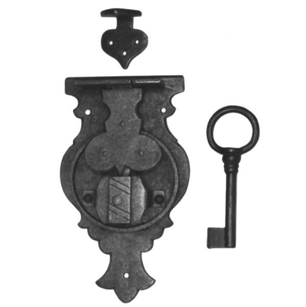 Aufschraubschloss aus Eisen, D 80 - 150 mm der Serie AS104 Bild1