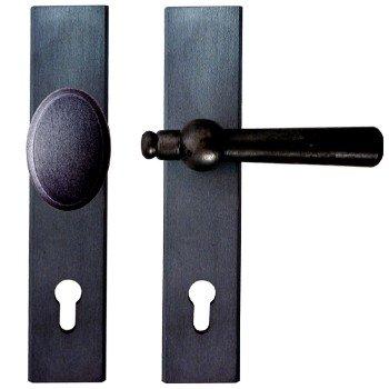 Sicherheitsgarnitur Eisen schwarz passiviert (PZ).Dist. 92 mm, DIN RE 240x48 mm Bild1