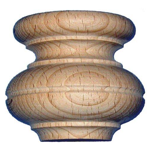 Möbelfuss in Buche 78 x 90 mm der Serie HF008 Bild1
