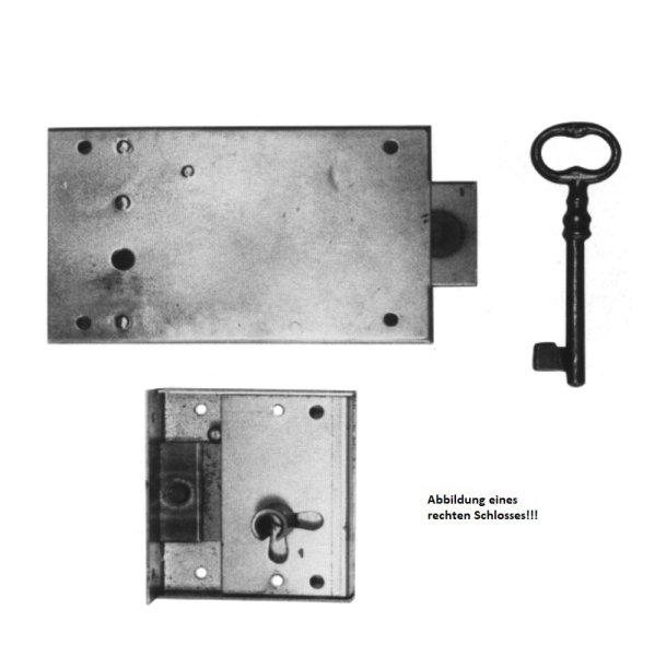 Aufschraubschloss aus Eisen mit Pfeife, D 80 mm links der Serie AS020 Bild1