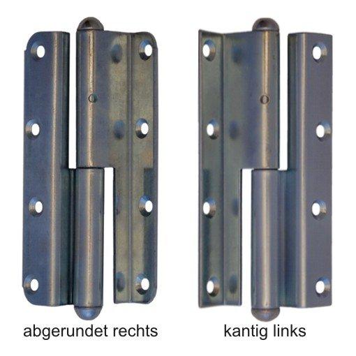 Band f überfälz. Zimmertüren gekröpft fester Stift der Serie TB001 Bild1