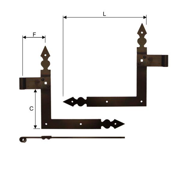 Winkelband für Fenster, Fensterladen, Dorn 10 mm der Serie FB001 Bild1