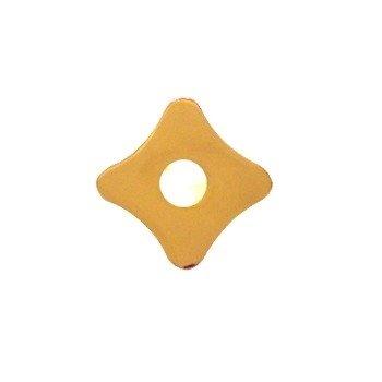 Türdrückerrosette Messing glänzend mit Profilyzlinder-Lochung Maße: 72 x 72 mm der Serie TR110 Bild1