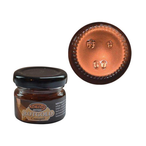 Gold-Creme 25 ml Rotgold in Pastenform mit einer hohen Deckfähigkeit. Bild1