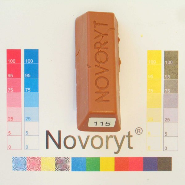 NOVORYT® Schmelzkitt - Farbe 115 Kirschbaum  5 Stangen der Serie HW003 Bild1