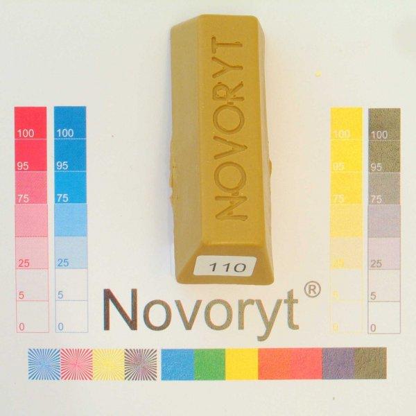 NOVORYT® Schmelzkitt - Farbe 110 Chrom gelb 1 Stange der Serie HW003 Bild1