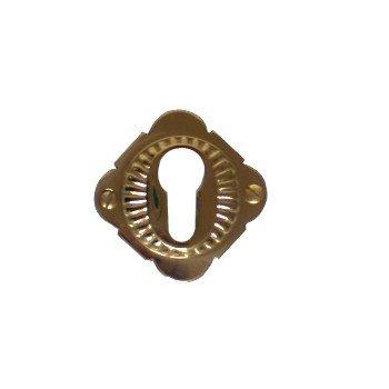 Rosette mit Profilzylinder-Lochung, Messing Höhe: 65 mm, Breite: 65 mm, Tiefe: 9 mm Bild1