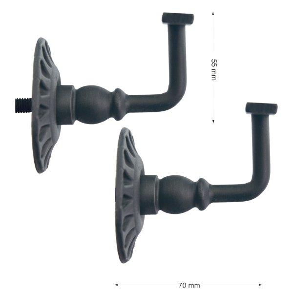 Handlaufstütze mit Stockschraube, Eisen geschmiedet der Serie TR001 Bild1